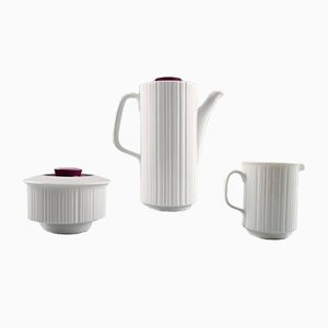 Black Porcelain Mocha Service Set by Tapio Wirkkala for Rosenthal, 1960s