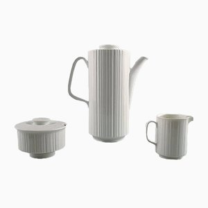 Black Porcelain Coffee Service Set by Tapio Wirkkala for Rosenthal, 1960s