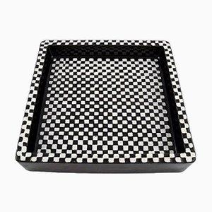Plato Domino de cerámica de Stig Lindberg para Gustavsberg, años 50