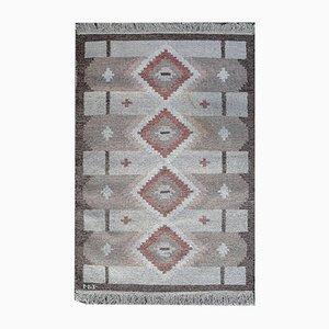 Vintage Rölakan Teppich mit geometrischem Muster