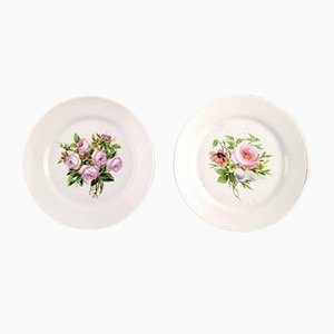Antique Plates Decorated with Flowers from Bing & Grondahl, 1870s, Set of 7