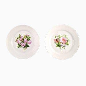 Assiettes Antiques avec Fleurs de Bing & Grondahl, 1870s, Set de 7