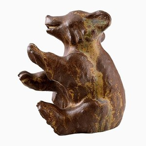 Ceramic Cub by Arne Bang, 1940s