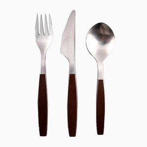 Stainless Steel 24 Person Cutlery Set by Henning Koppel for Georg Jensen, 1970s