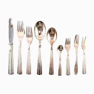 Art Deco Style Silver Plated Cutlery Set from Dagmar, 1940s