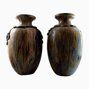 Grands Vases de Plancher Art Déco par Roger Guerin, France, Set de 2