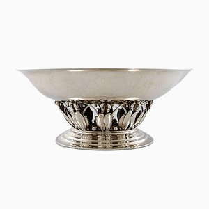 Vintage Hammered Sterling Silver Centrepiece from Georg Jensen