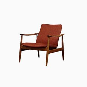 Danish Model 138 Lounge Chair by Finn Juhl for France & Søn, 1960s