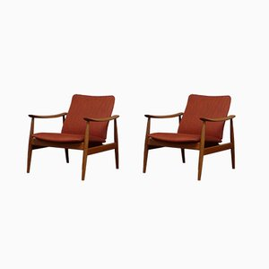 Danish Model 138 Lounge Chairs by Finn Juhl for France & Søn, 1960s, Set of 2