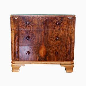 Art Deco Style French Walnut Dresser, 1950s