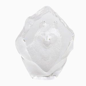Briefbeschwerer aus Kristallglas von Daum, 1950er