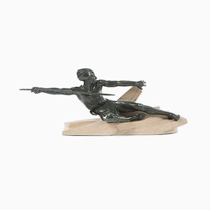 Art Deco French Sculpture by Max Le Verrrier, 1930s