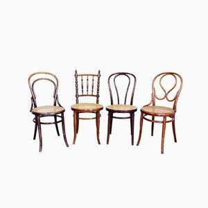 Bistro Chairs from Thonet & Fischel, 1920s, Set of 4