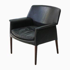 Dänischer Sessel aus Leder & Palisander von AB Madsen & E. Larsen, 1960er