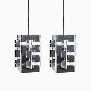Geometric Pendants by Jan Hoogervorst for Anvia, 1960s, Set of 2
