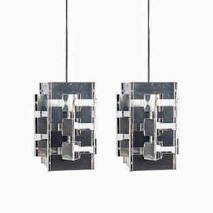 Geometrische Hängelampen von Jan Hoogervorst für Anvia, 1960er, 2er Set