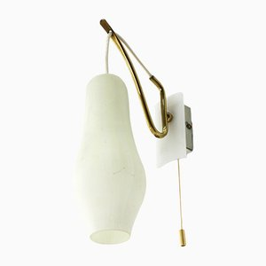Wandlampe aus Messing, 1950er