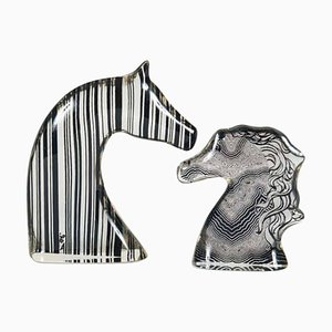 Figurines de Tête de Cheval par Abraham Palatnik, 1970s, Set de 2