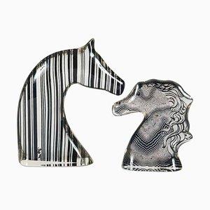 Pferdekopffiguren von Abraham Palatnik, 1970er, 2er Set