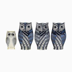 Lucite Owls by Abraham Palatnik, 1970s, Set of 4