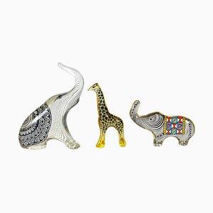 Wilde Tierfiguren von Abraham Palatnik, 1960er, 3er Set