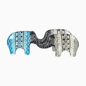 Lucite Elephant Figurines by Abraham Palatnik, 1960s, Set of 3