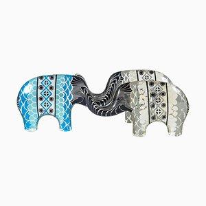 Statuine di elefanti in lucite di Abraham Palatnik, anni '60, set di 3