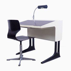 Deutsches Set mit Schreibtisch & Stuhl von Luigi Colani für Flötotto, 1970er