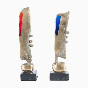 Sculptures en Bronze par Romildo Cardozo, 1990s, Set de 2