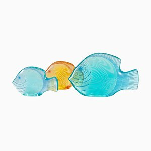 Lucite Fish by Abraham Palatnik, 1960s, Set of 3