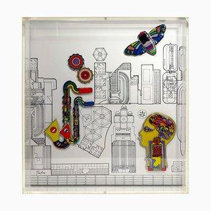 Wandobjekt von Sir Eduardo Paolozzi für Rosenthal, 1985