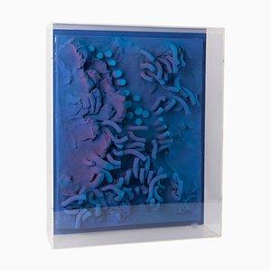 Sculpture Murale avec Art Optique en Plexiglas par César Bailleux, 1980s