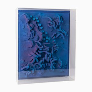 Wall Sculpture with Optical Art in Plexiglass by César Bailleux, 1980s