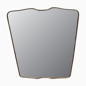Italian Mirror with Brass Frame, 1950s