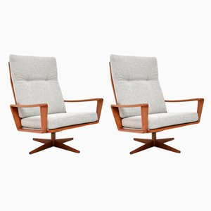 Danish Teak Swivel Armchairs by Arne Wahl Iversen for Komfort, 1960s, Set of 2