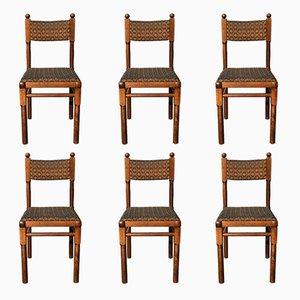 Tschechische Esszimmerstühle aus Eichenholz von Drevounia, 1980er, 6er Set