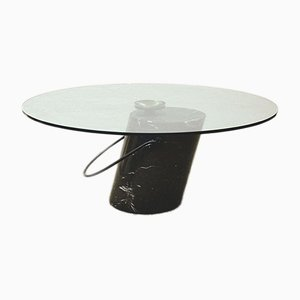 Vintage Italian Crystal and Marble Coffee Table, 1970s