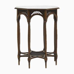 Table d'Appoint Octogonale Antique en Chêne