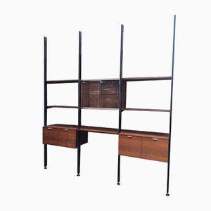 Libreria modulare vintage in legno di George Nelson per Herman Miller, anni '70