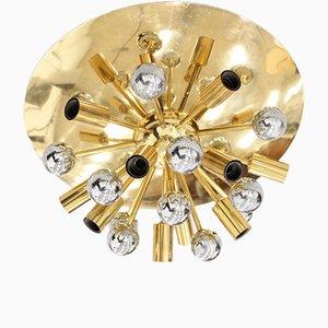 Lampada ad incasso Sputnik Mid-Century in ottone di Boulanger