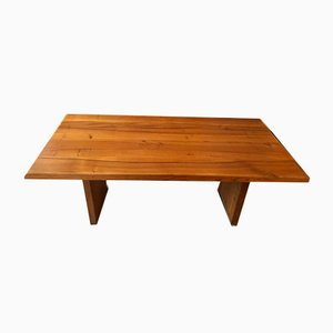 Mid-Century Elm T14C Dining Table by Pierre Chapo, 1960s