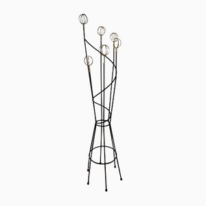 Mid-Century Steel Astrolabe Coat Rack by Roger Feraud, 1950s