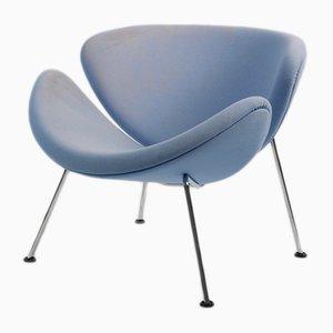 Sedia in acciaio cromato di Pierre Paulin per Artifort, anni '60