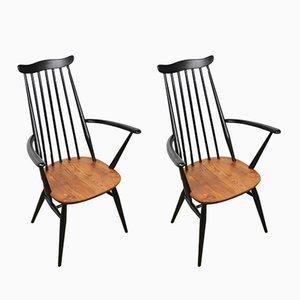 Sillas de comedor de madera de Ercol, años 60. Juego de 2
