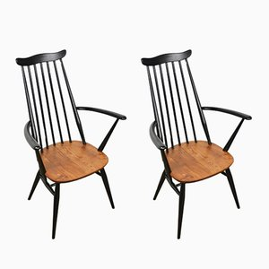 Wooden Dining Chairs from Ercol, 1960s, Set of 2