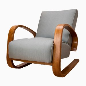Beech and Fabric Armchair by Miroslav Navratil for UP Závody, 1930s