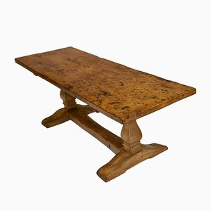 Vintage Rustic Burl & Elm Dining Table, 1970s