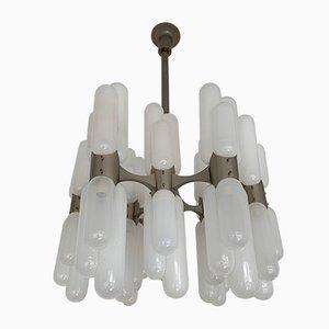 Lámpara de araña Torpedo italiana de Carlo Nason para Mazzega, años 70