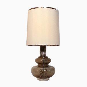 Lámpara de mesa alemana de vidrio de Doria Leuchten, años 80