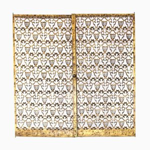 Puertas de bronce de Raymond Subes. Juego de 2